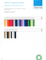 Venne 16/2 Organic Cotton Sample Card