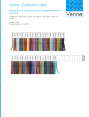 Venne 40/2 Mulit-Coloured Mercerized Cotton Sample Card