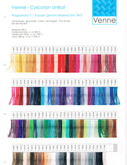 Venne 70/2 Mercerized Cotton Sample Card