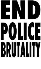 Load image into Gallery viewer, BLM Series - White Tee - End Police Brutality