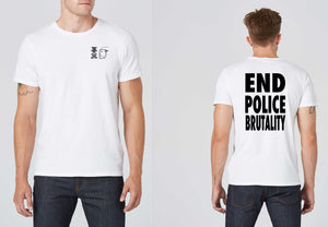 BLM Series - White Tee - End Police Brutality