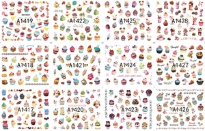 Water Slide Decals - Fruit & Cake 36pcs
