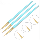 Striping Brush - Blue - 3pcs