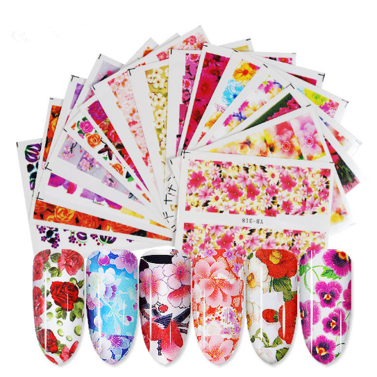 Water Slide Decals - Flower Mix 48pcs