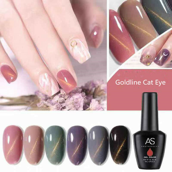 AS - UV Gel Polish - Goldline Cat Eye