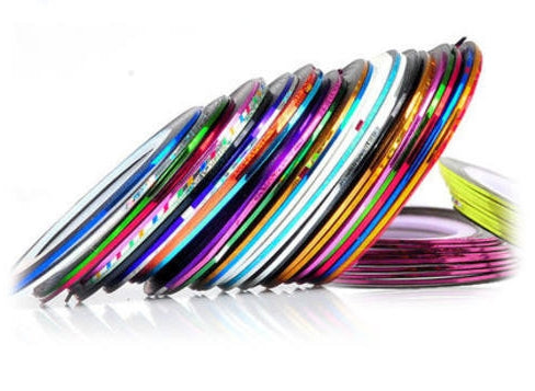 Striping Tape - 32pcs - different colours