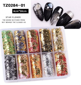 Foil Paper Box - 4cm x 100cm- 10pcs - TZ Collection