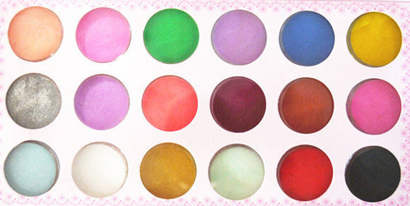 Acrylic Colour Pigment Powder - 18pcs