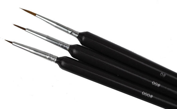 Drawing Brush - Black - 3pcs