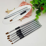 Gel Brush - Stainless Steel - 6pcs