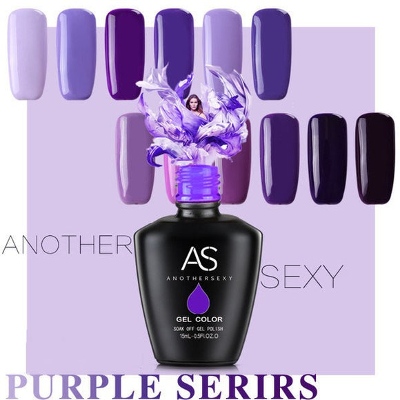 AS - UV Gel Polish - Purple Series