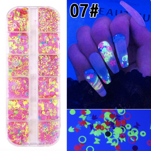 Nail Decoration - Butterfly - #07 - (Luminous)
