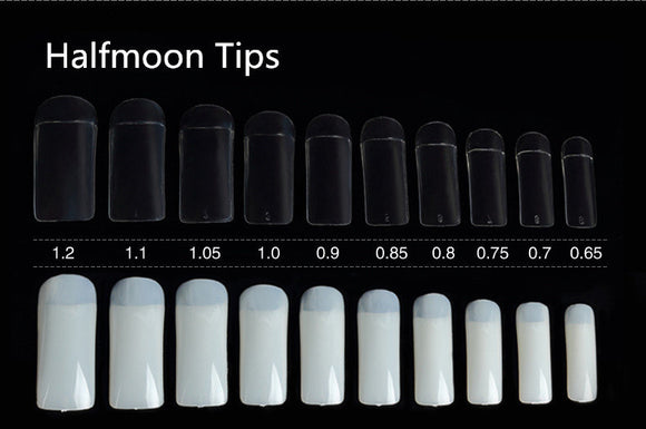 Halfmoon Tips - 500pcs - Box