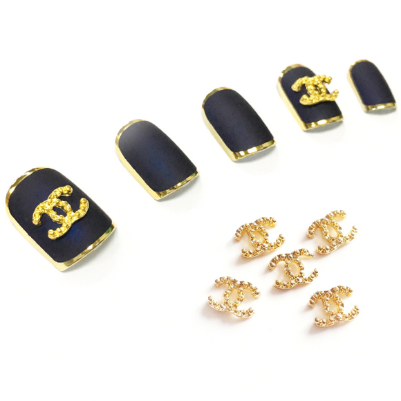 Metal Nail Jewelry - Chanel - 10pcs