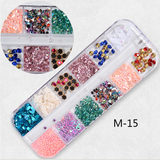 Grids Nail Decoration 12pcs