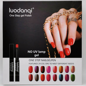 Nail Polish - One Step Gel Polish Pen (Non UV) - 24 Colours