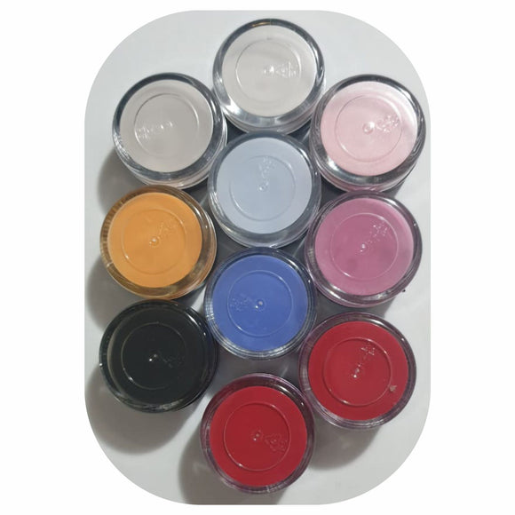 Pearl Acrylic Colour Powder - 10pcs