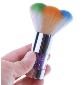 Dusting Brush - Colourful/Silver Handle