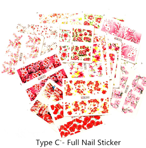 Water Slide Decals - BN/C - Flowers - 24pcs