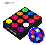Fluorescence Neon Powder 12pcs