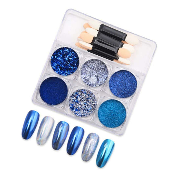 Vicovi - Chrome Powder & Glitter Set - 6pcs