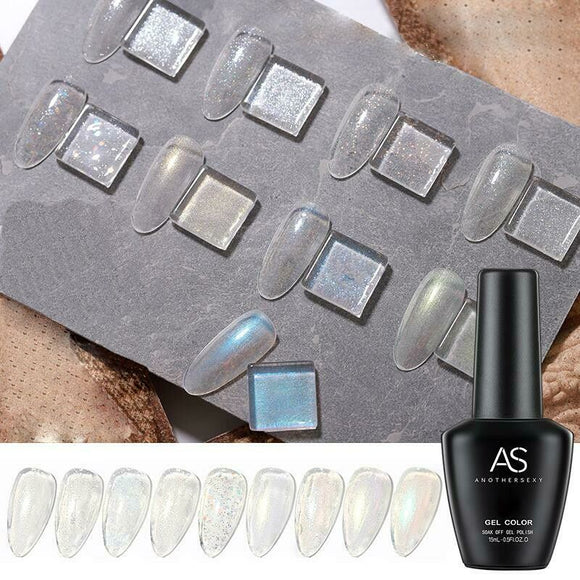 AS - UV Gel Polish - Non-Wipe Glitter Top Coat