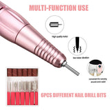 30000rpm Electric Nail File/Drill Machine (TGR-108) - Rechargeable / Cordless / Portable