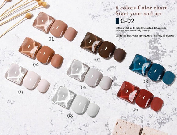 Vendeeni - UV Gel Polish - G-02 - 8pcs