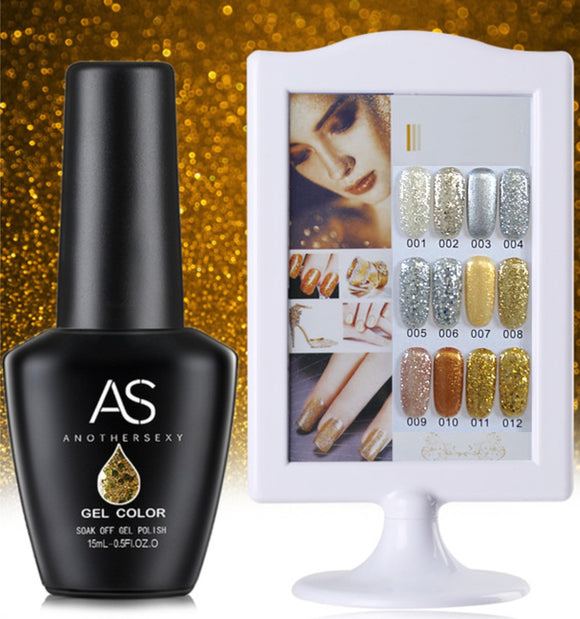 AS - UV Gel Polish - Silver/Gold Series