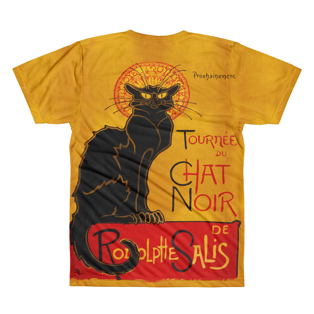 Le Chat Noir Famous French Advertising Poster Short Sleeve Unisex T-Shirt - Unique Cat Gifts
