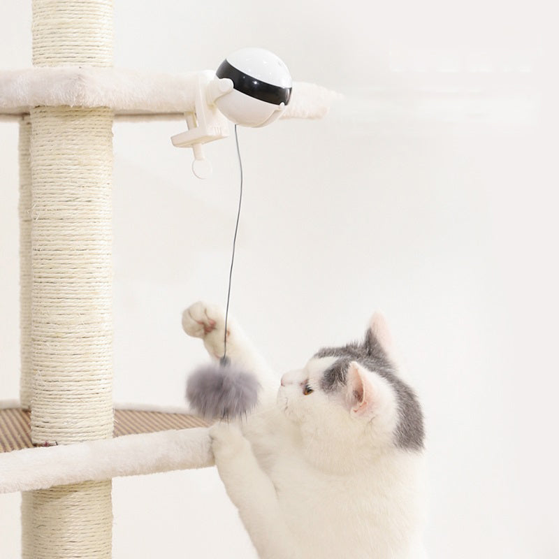 Interactive Fur-Ball Yo-Yo Cat Teaser Electronic Motion Cat Toy - Unique Cat Gifts