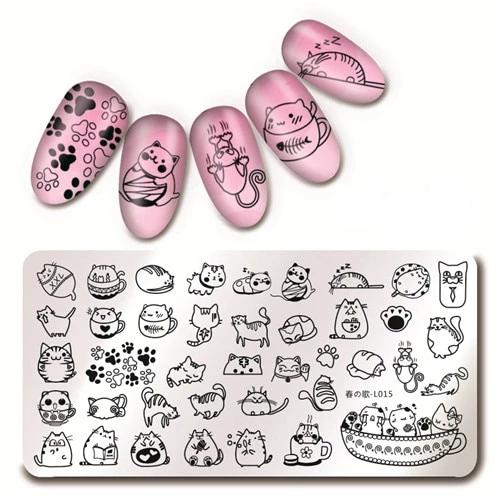 Salon Style Kitty Cat Nail Art Stamping Plates - Unique Cat Gifts