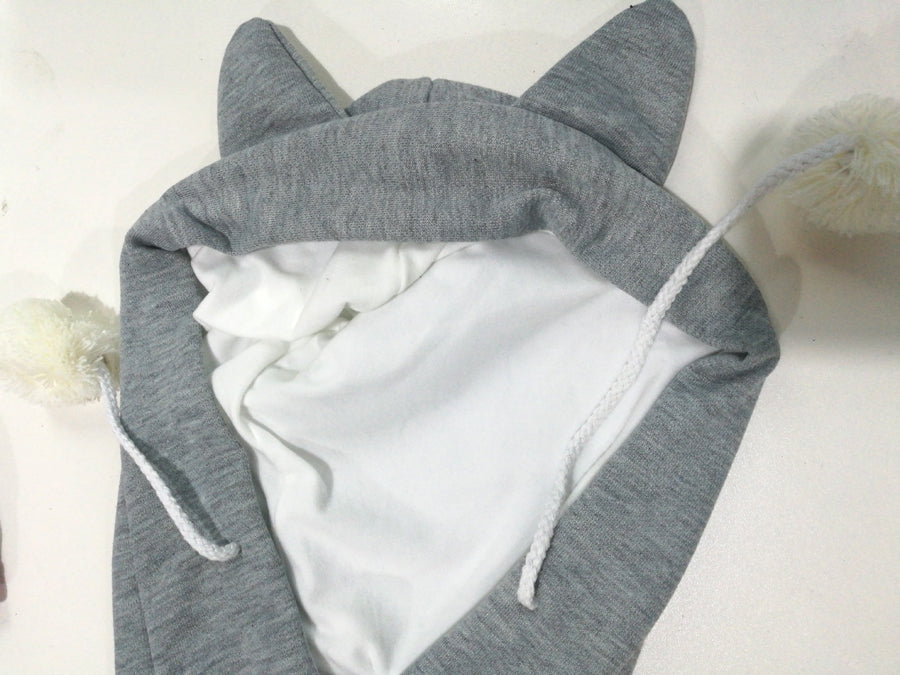 Unisex Cuddly Snuggly Cat Kangaroo Pouch Hoodie For Cat Cuddlers With Cat Ears and Paw Detail - Unique Cat Gifts