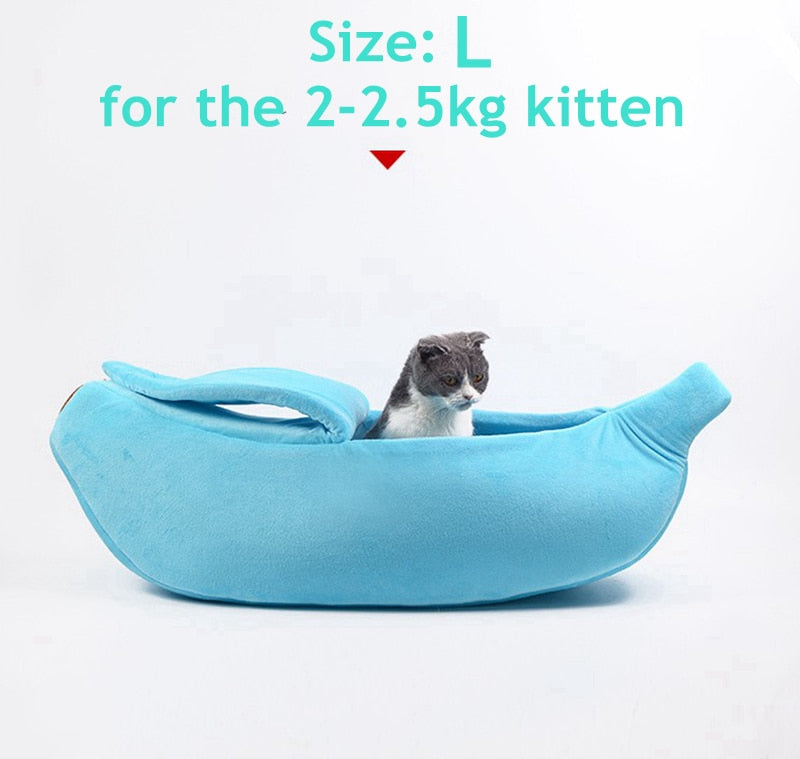 Banana Peel Cat & Kitten Bed With Free Soft Padding While Supplies Last! - Unique Cat Gifts