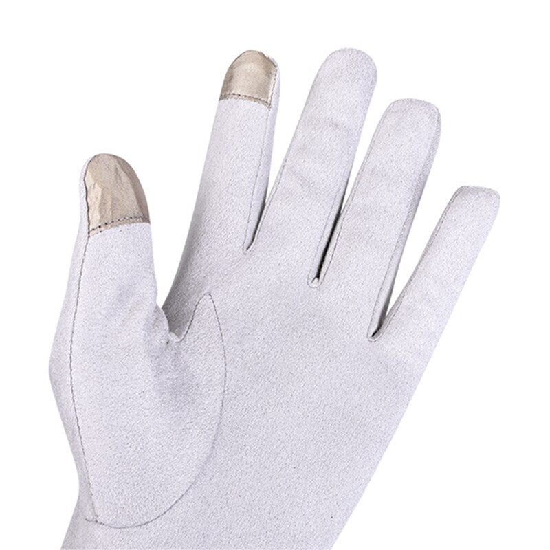 Women's Touch Screen Polyester With Fleece Lining Cat Tail Finger Gloves - Unique Cat Gifts