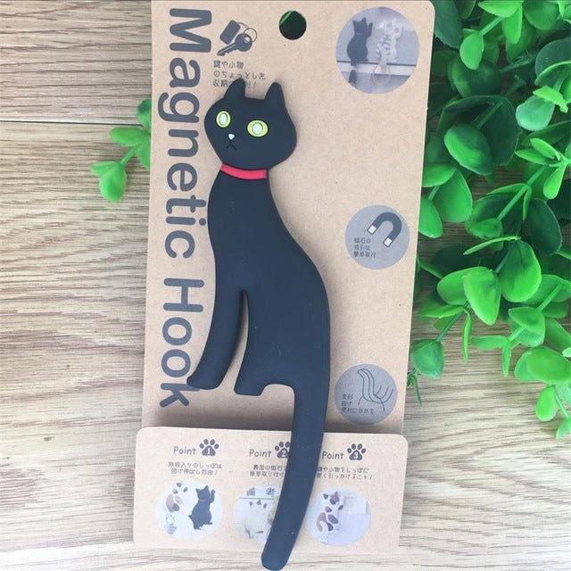 Kitty Tail Silicone Cat Tail Hook and Fridge Magnet - Unique Cat Gifts