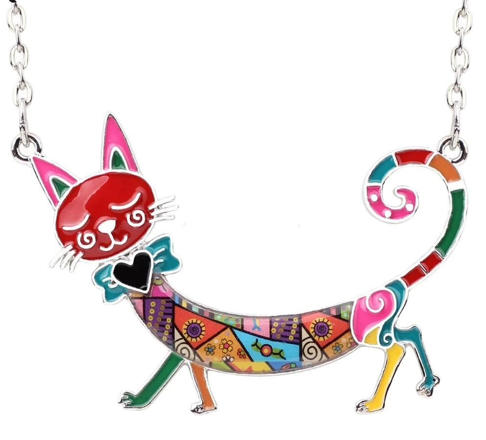 Smiling Cat Choker Necklace - Unique Cat Gifts
