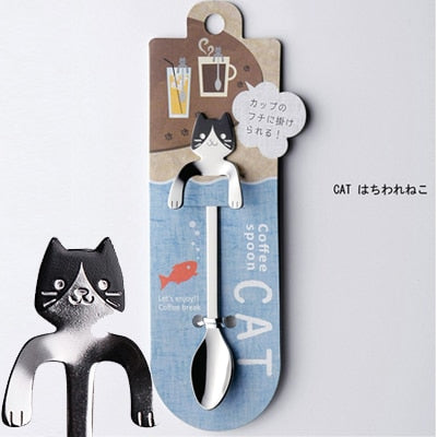Stainless Steel Cat Spoon for Coffee, Tea or Ice Cream - Teaspoon - 1 pc. - Unique Cat Gifts