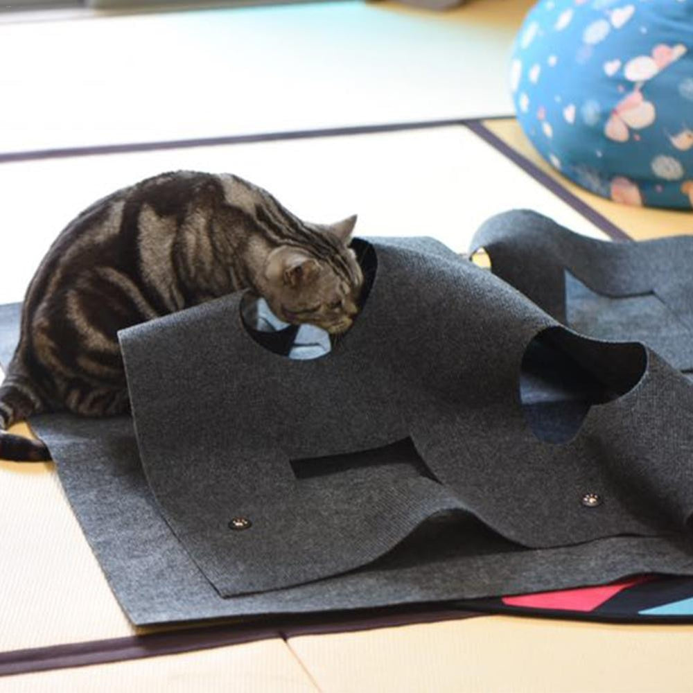 The Wave Runner Cat Cave Hide and Seek Play Mat - Unique Cat Gifts