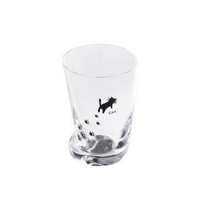 Cutie Petutie Cat Paw Glass Tumbler Mug - Unique Cat Gifts