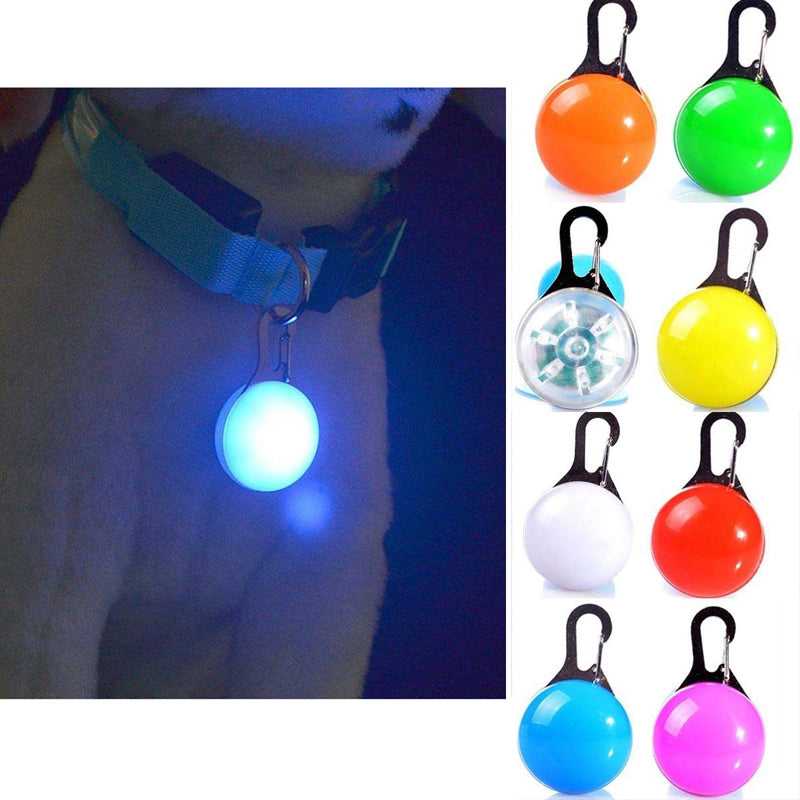 Safety First Glowing Light-Up Cat Safety LED Glowing Pendant For A Collar - Unique Cat Gifts
