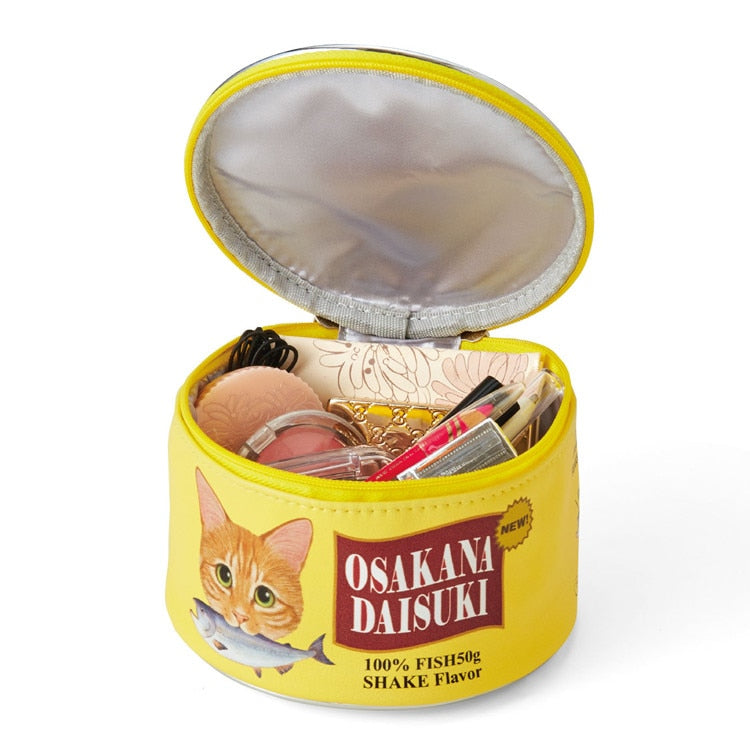 Ladies Mmm, Mmm Good Canned Fish Cat Food Makeup Cosmetic Bag or Portable Storage Box - Unique Cat Gifts