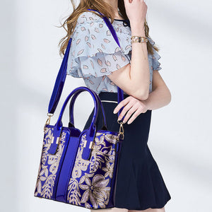 E2963 Hot sell style round handle fashion patent leather handbags for women luxury