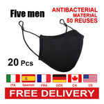 Load image into Gallery viewer, 20pcs Free Shipping 50 times repeated washing silver ion antibacterial face mask