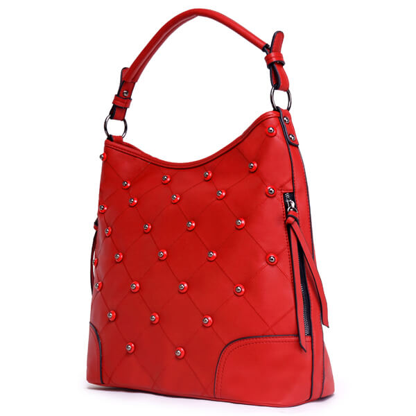 E3283 Wholesale cheap fashion 2019 PU leather large capacity designer women handbags With rivets