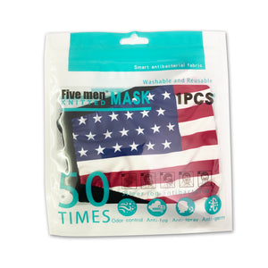 40pcs United States Free Shipping 50 times repeated washing silver ion antibacterial face mask