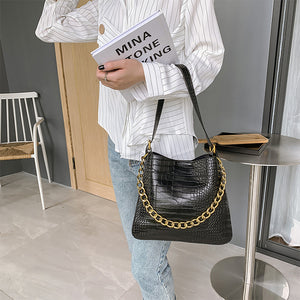 Eg191 high quality designer crossbody women handbag crocodile pattern purse ladies shoulder bag