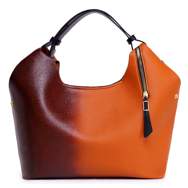E3281 Hot Selling 2019 fashion contrast color high capacity bag ladies handbags PU leather bags