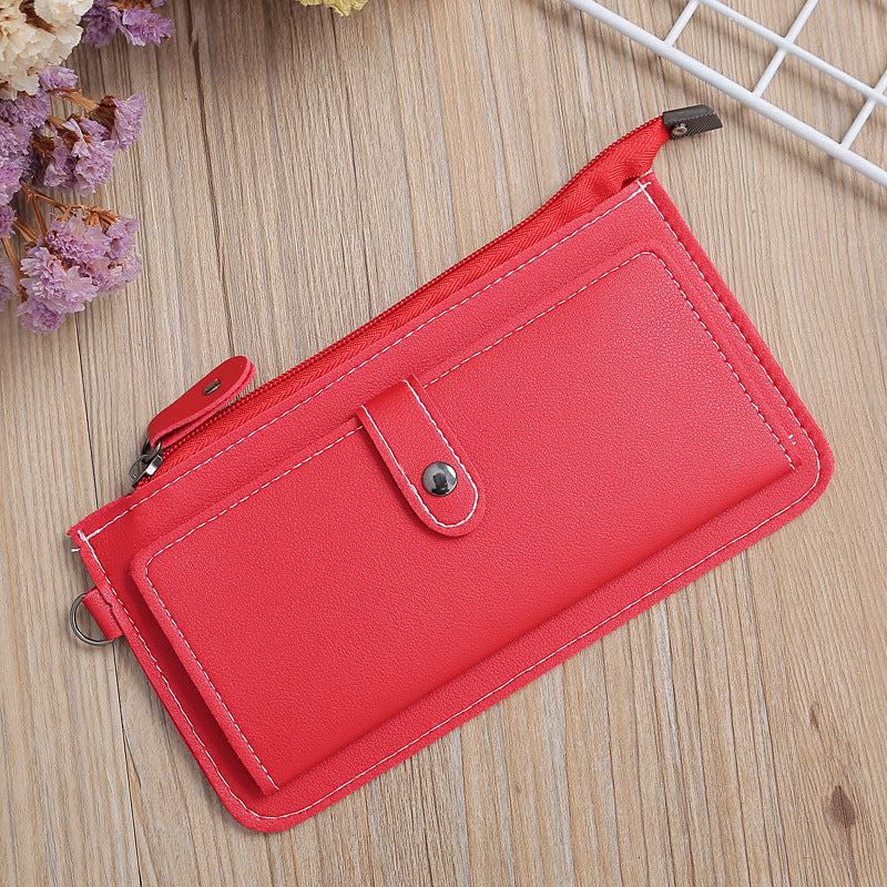 W406 Wholesale custom logo multi-card Phone money bag women long purse zipper luxury wallet