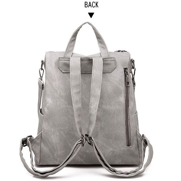 BPH004 Wholesale fashion ladies bag soft pu travel laptop backpack women